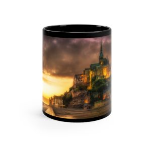 Mont St. Michel Black mug 11oz